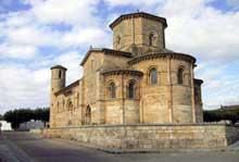 Fromista: église saint Martin. Vue générale; le chevet.