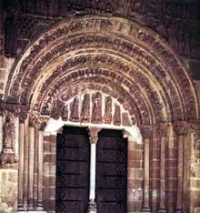 San Salvador de Leyre: le portail. XIIè