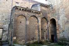 Oviedo�: la ��Camara santa�� et la crypte de santa Leocadia, int�gr�es dans la cath�drale d�Oviedo, X� - seconde moiti� du XII�. Vue ext�rieure