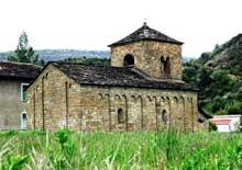 Sancaprasio en Aragon. L'église et se magnifiques bandes lombardes. 1020-1030