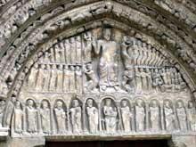 Sanguesa en Navarre: Santa Maria la Real: le tympan