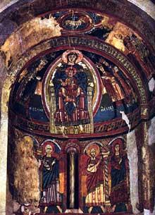Santa Maria de Tahull: vierge en majesté de l'abside. Premier quart du XIIè