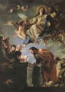 Matteo Cerezo: le mariage mystique de sainte Catherine. 1660. Huile sur toile, 207 x 163 cm. Madrid, muse du Prado