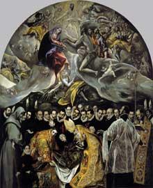 Domenikos Theotokopoulos, «El Greco»: l'enterrement du comte d'Orgaz. 1586-1588. Huile sur toile, 480 x 360cm. Tolède, Santo Tomé