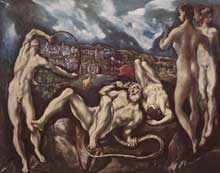 Domenikos Theotokopoulos, « El Greco » : Laocoon. 1610. Huile sur toile, 142 x 193cm. Washington, National Gallery of Art.