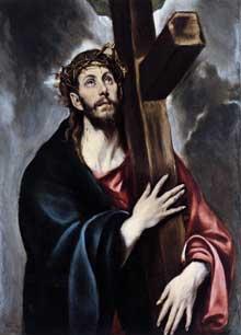 Domenikos Theotokopoulos, «El Greco»: le Christ portant sa croix. 1580. Huile sur toile, 105 x 79cm. New York, Metropolitan Museum of Art