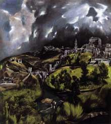 Domenikos Theotokopoulos, «El Greco»: une vue de Tolède. 1597-1599. Huile sur toile, 121,3 x 108,6cm. New York, Metropolitan Museum of Art