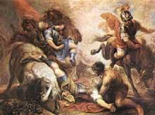 Juan Antonio Escalante: la conversion d saint Paul. Huile sur toile. Madrid, muse Cerralbo