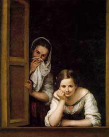Estéban Murillo: jeune fille et sa duègne. 1670. Huile sur toile, 106 x 127 cm. Washington, National Gallery of Art