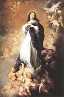 Estéban Murillo: l'Immaculée Conception. Vers 1678. Huile sur toile, 274 x 190 cm. Madrid, musée du Prado