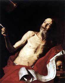 José de Ribera: Saint Jérôme. 1637. Huile sur toile, 128,5 x 102cm. Rome, Galerie Doria-Pamphili,