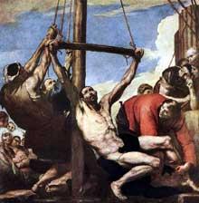 José de Ribera: le Martyr de saint Philippe. 1639. Huile sur toile, 234 x 234cm. Madrid, musée du Prado