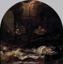 Juan de Valdès Léal: Finis Gloriae Mundi. 1670-1672. Huile sur toile, 220 x 216 cm. Séville, Hospitale de la Caridad