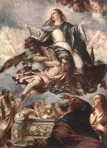 Juan de Valdès Léal : L'assomption de la vierge. 1659. Huile sur toile. Washington, National Gallery of Art