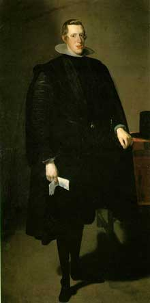 Diégo Vélasquez: Portrait en pied de Philippe IV. 1623. Huile sur toile, 198 x 101,5cm. Madrid, musée du Prado.