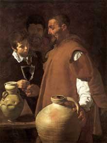 Diégo Vélasquez: le vendeur d'eau de Séville. 1623. Huile sur toile, 106,7 x 81 cm. Londres, Wellington Museum