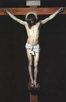 Diégo Vélasquez: le crucifié. 1632. Huile sur toile, 248 x 169 cm. Madrid, Musée du Prado.