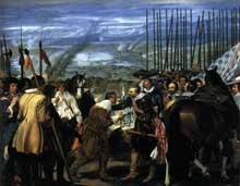 Diégo Vélasquez: la reddition de Breda ou «les lances». 1634-1635. Huile sur toile, 307 x 367 cm. Madrid, Musée du Prado