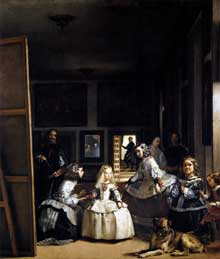 Diégo Vélasquez: les Ménines ou la famille de PhilippeIV. 1656-57. Huile sur toile, 318 x 276 cm. Madrid, Musée du Prado