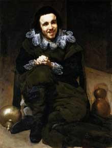 Diégo Vélasquez: le nain Don Juan Calabazas, dit «Calabacillas»1637-1639. Huile sur toile, 106 x 83 cm. Madrid, Musée du Prado
