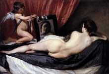 Diégo Vélasquez: Vénus au miroir. 1649-1651. Huile sur toile, 122,5 x 177 cm. Londres, National Gallery