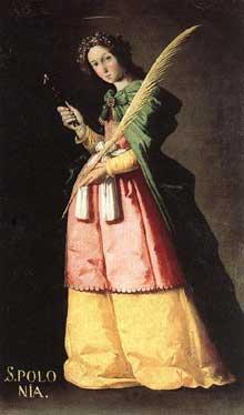 Francisco Zurbaran: Sainte. Apollonia. Huile sur toile, 113 x 66cm. Paris, Musée du Louvre