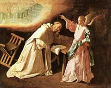 Francisco Zurbaran: la Vision de Saint Pierre de Nolasque. 1629. Huile sur toile, 179 x 223cm. Madrid, Musée du Prado