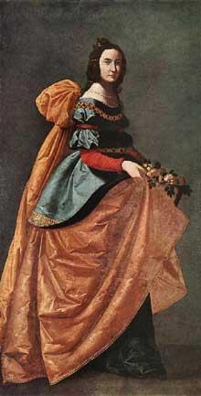 Francisco Zurbaran: Sainte Casilde de Burgos. 1638-1642. Huile sur toile, 184 x 90cm. Madrid, Musée du Prado