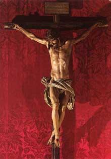 Juan Martinez Montanez: crucifix. Vers 1603. Bois polychrome. Séville, cathédrale