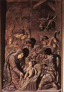 Juan Martinez Montanez: l'Adoration des Bergers. 1609-1613. Bois. San Isidoro del Campo, Santiponce