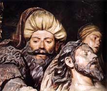Pedro Roldan. Mise au tombeau. 1670-1673. Bois peint. Séville, Hôpital de la Charité