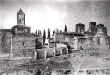 Terrassa en Catalogne: le groupe des églises san Pere, san Miguel et santa Maria