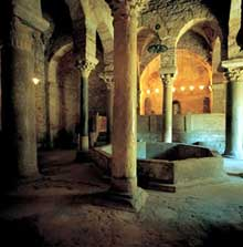 Terrassa en Catalogne: l'église san Pere. L'intérieur