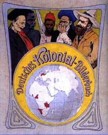 La présence coloniale allemande. Couverture d'un livre d'images, Dresde, 1901