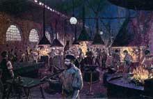 La puissance économique allemande: une forge industrielle dans la Ruhr en 1900