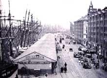 L'Angleterre industrieuse: les fameux docks de Liverpool, poumon industriel du pays au début du XXè