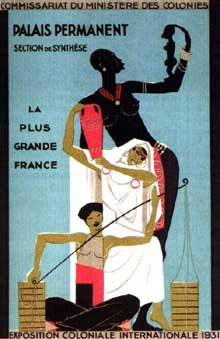 Affiche pour l'exposition coloniale internationale de 1931 à Paris