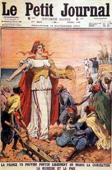 La France protectrice du Maroc après les affaires de Tanger en 1905 et d'Agadir en 1911