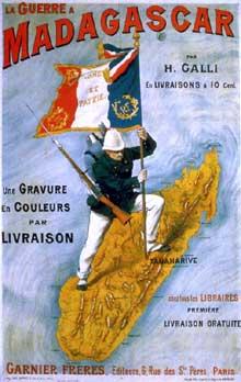 Colonisation de Madagascar. Couverture d'une brochure de propagande