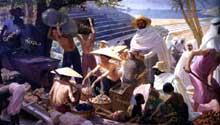 L'empire fournisseur de minerai». Fresque de Michel Géo. 1931. Paris, Musée des Arts d'Afrique er d'Océanie