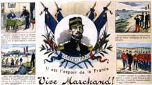 La rivalité coloniale franco-britannique: affiche de propagande française sur la crise de Fachoda