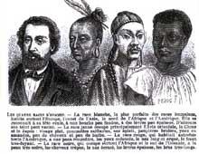 Colonialisme et racisme… Gravure tirées du livre «Le tour de France par deux enfants» de G. Bruno. Belin, 1877