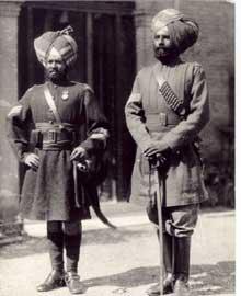 Soldats Sikhs de l'empire britannique