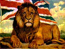 Le lion britannique, symbole de l'empire