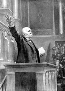 Georges Clemenceau à la tribune