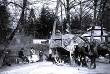 La France rurale traditionnelle des années 1900. Pause dans la campagne