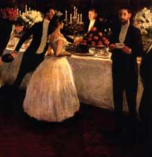 J.L. Forain: la grande bourgeoisie. 1884. Huile sur toile, 93 x 148 cm. Paris, collection fédéraliste mutualiste parisienne