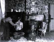 La toilette du mineur en 1900