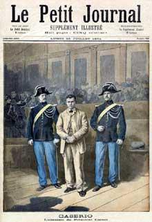 Le 24 juin 1894, Sante Geronimo Caserio (1873-1894) poignarde mortellement le président Carnot durant un défilé. Condamné à mort par la cour d'assises du Rhône le 3 août, il est guillotiné le 16 août suivant