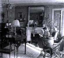 Intérieur bourgeois à Paris en 1912